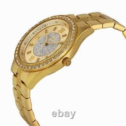 JBW Mondrian Gold Diamond Dial 18kt Gold Plated Stainless Steel Ladies Watch