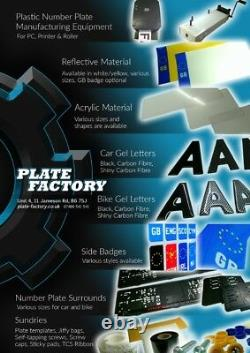 KRYSTAL Crystal Clear Number Plate Letters Digits for 3D Gel Wholesale KIT x700
