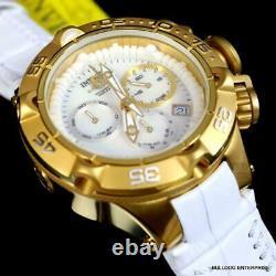 Ladys Invicta Subaqua Noma V Swiss Made Chrono Gold Plated White MOP Leather New