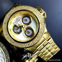 Ladys Invicta Subaqua Sea Dragon. 93 CTW Diamond Gold Plated MOP 42mm Watch New