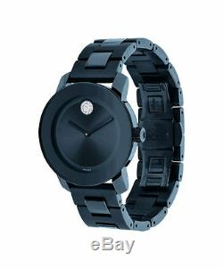 MOVADO BOLD 3600388 Blue Ion Plated Stainless Steel Crystal Dot Ladies Watch