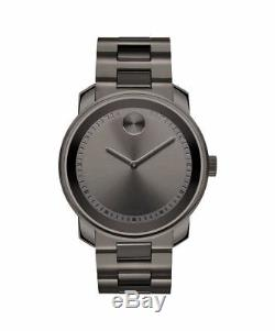 MOVADO Bold Grey Dial Grey Ion-Plated Stainless Stee Watch 3600259