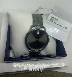 MOVADO Bold Thin Quartz Grey Ion-Plated Mesh Bracelet 3600597 MSRP $595