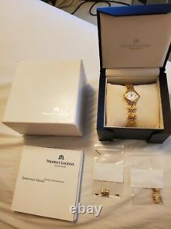 Maurice Lacroix 18k Gold Plated Quartz Ladies Watch