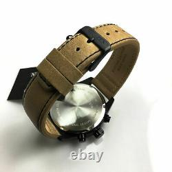 Men's Citizen Black Plated Chronograph Leather Strap Watch AN3625-07X