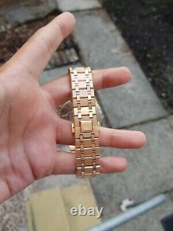 Mens Didun Design Gold Plated Chronograph Homage Watch Quartz Chocolate Dial UK