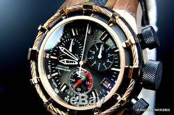 Mens Invicta Reserve Bolt 18kt Rose Gold Plated Chronograph Swiss Made Watch New