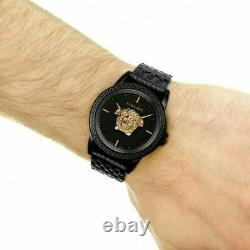 Mens Ion Plated Black Versace Watches Palazzo Empire VERD00518 New In Box