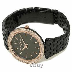 Michael Kors Darci Black Dial Crystal Black Carbon-plated Women's Watch MK3407