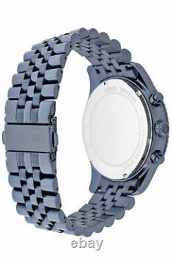Michael Kors Lexington Blue Ion-Plated 44MM Chrono Steel Men's Watch MK8480