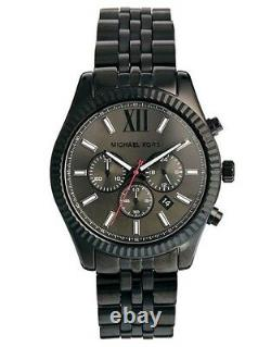 Michael Kors Lexington MK8320 Chronograph Black Ion Plated 45 mm Mens Watch
