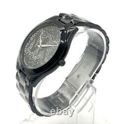 Michael Kors MK3589 Women's Slim Runway Black Ion-Plated Bracelet 42mm Watch
