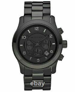 Michael Kors MK8157 Runway 45 mm Chronograph Black Ion Plated Steel Men's Watch