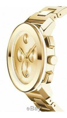Movado Bold Chronograph Champagne Dial Gold-Tone Ion-plated Watch (3600141)