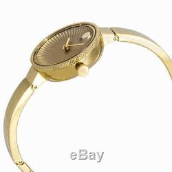 Movado Edge Gold Dial Yellow Gold-plated Ladies Watch 3680021