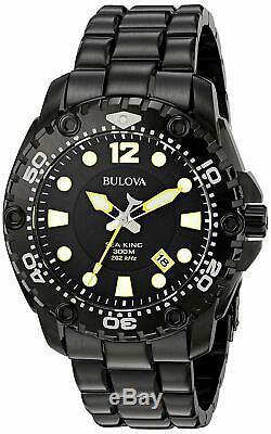 NEW Bulova 98B242 Men's Sea King Precisionist Black Ion Plated UHF 300M Watch