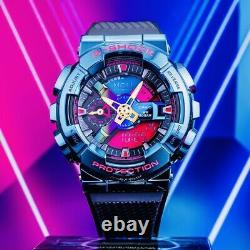 NEW G-Shock GM-110SN-2A, Blue Ion Plating, Rainbow Dial Limited Edition