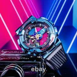 NEW G-Shock Night Series GM-110SN-2A, Blue Ion Plating, Rainbow Dial Components