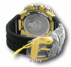 NEW Invicta 56mm Men Reserve Bolt Hercules Swiss Chrono 18K Gold Plated SS Watch