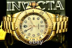 NEW Invicta MenRESERVE Hydromax 52MM GOLD LABEL Gold Dial 18 K Gold Plated Watch