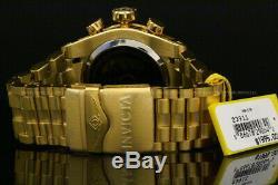 NEW Invicta Men 52MM BOLT ZEUS SWISS RONDA MOVT 18K Gold Plated Bracelet Watch