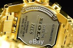 NEW Invicta Men 52mm Bolt Zeus MAGNUM 18K Gold Plated Chrono Dual Time SS Watch