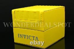 NEW Invicta Pro Diver Scuba 18K Gold Plated Black Dial Chrono S. S Bracelet Watch