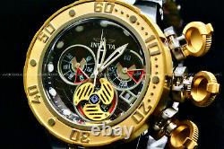 NEW Invicta SEA DRAGON 52MM SWISS MOVT 18K Gold Plated Chrono S. S Watch