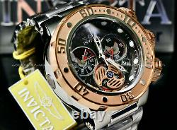 NEW Invicta SEA DRAGON 52MM SWISS MOVT 18K Rose Gold Plated Chrono S. S Watch