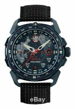 NEW Luminox 1203 ICE-SAR ARCTIC Blue Ion Plated Black Nylon Fabric Strap Watch
