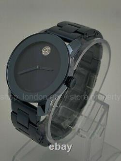 NEW Movado Bold 3600494 Light Blue Ion-Plated 36mm Case Ladies Wrist Watch