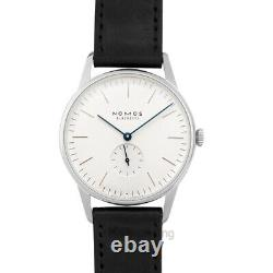 NOMOS GLASHUETTE Orion 384 White Silver-plated Dial Men's Watch Genuine