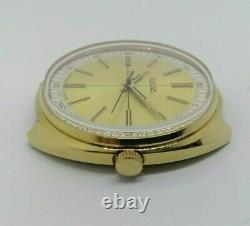 NOS New Watch Raketa 2609 Gold plated USSR Vintage Soviet Original SERVICED