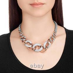 NWT SWAROVSKI Bound Large Necklace Multicolored Rose Gold Plating 5089276