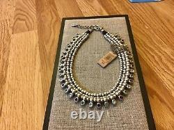 NWT Uno de 50 3 Row Silver-plated Choker with Crystals Crystal Jungle