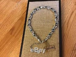 NWT Uno de 50 Silver-plated Choker Necklace with Blue Crystal JeJewel