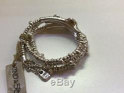 NWT Uno de 50 Silver-plated/Indian Safire Swarovski Crystals Bracelet Delirium