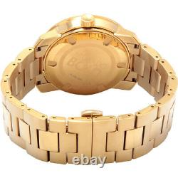 New Authentic Movado Bold Men's Gold Ion Plated Stainless Steel Watch 3600258