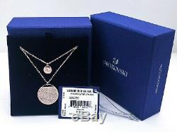 New Authentic SWAROVSKI Rose Gold Ginger Double layered Pendant Necklace