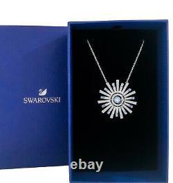 New Authentic SWAROVSKI Sparkle Crystal Sunshine Blue Pendant Necklace 5536731
