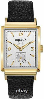 New Bulova Frank Sinatra My Way Gold Plated Rectangular Case Quartz 97a158