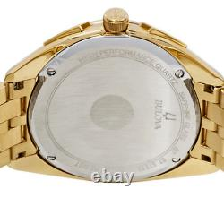 New Bulova Mens Watch 97A125 Curv Collection, Precisionist, Gold Plated, 45mm