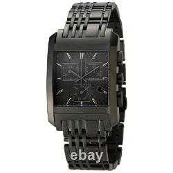 New Burberry Black Ion Plated Heritage S/steel Chronograph Watch Bu1563