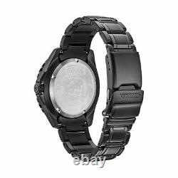 New Citizen Eco-Drive Men's Promaster Black Ion-Plated Stainless Watch MSRP $450