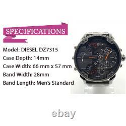 New Diesel DZ7315 The Daddies Chronograph Gunmetal Ion-plated Dial Men's Watch