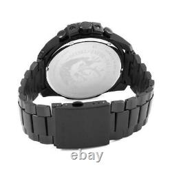 New Genuine Diesel Dz4318 Black Ion-plated Mega Chief Chronograph Mens Watch