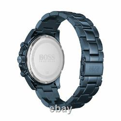 New Hugo Boss 1513758 Hero Sport Lux Blue Ion Plated Stainless Steel Mens Watch