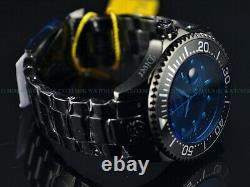 New Invicta 54mm RADAR Grand Diver Automatic Blue Crystal Black Plated SS Watch