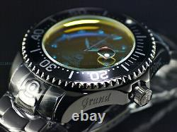 New Invicta 54mm RADAR Grand Diver Automatic Crazy Crystal Black Plated SS Watch