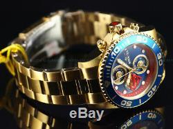 New Invicta DC Comics 43mm Superman LE Quartz Chronograph 18K Gold Plated Watch